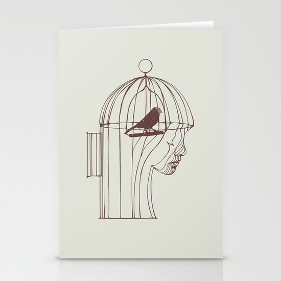 Be Alone Stationery Card