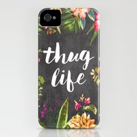 iPhone 4s & iPhone 4 Cases featuring Thug Life by Text Guy