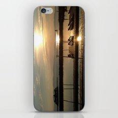 Lake Champlain Ferry to Burlington Vermont at Sunset iPhone & iPod Skin