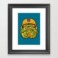 Neon Trooper. Framed Art Print