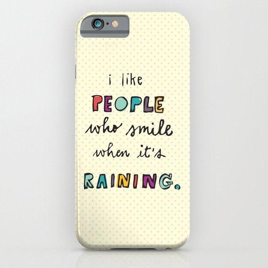 when it's raining iPhone & iPod Case