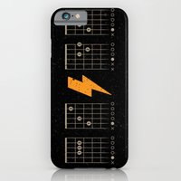 iPhone & iPod Case featuring ACDC Back in Black by Vó Maria