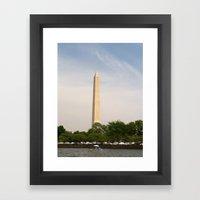 Paddling Up to the Washington Monument Framed Art Print