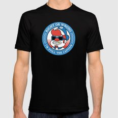 Right or wrong, I'm still the captain SMALL Mens Fitted Tee Black