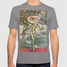 BIRD WATCHERS Mens Fitted Tee Tri-Grey SMALL