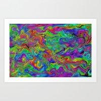 Atomic Rainbow Splash Art Print