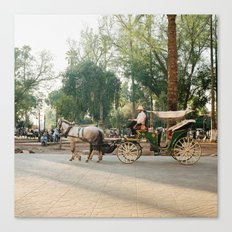 caleche / horse carriage in Marrakech Canvas Print