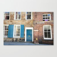 Teal Doors Canvas Print