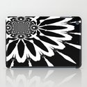 Black & White Modern Flower iPad Case