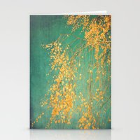 yellow leaves Stationery Cards