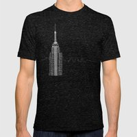 NYC by Friztin Mens Fitted Tee Tri-Black SMALL