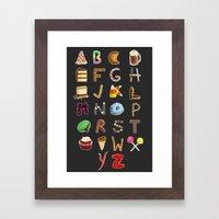 Dessert Alphabet  Framed Art Print