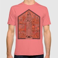 Saint Francis Mens Fitted Tee Pomegranate SMALL