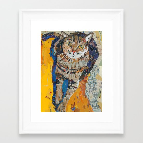 Tobin the kitty Framed Art Print