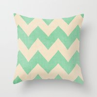 Malibu - Chevron Throw Pillow