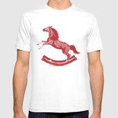 Rocking Horse Mens Fitted Tee White SMALL