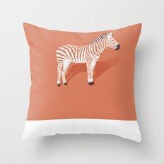 Animal Kingdom: Zebra I Throw Pillow