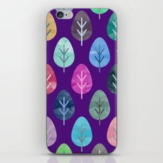 Watercolor Forest Pattern II iPhone & iPod Skin