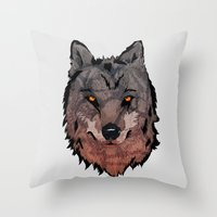 Wolf Mother Throw Pillow