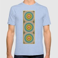 Panoply Pattern Mens Fitted Tee Tri-Blue SMALL