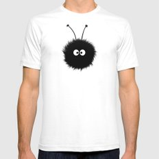 Blue Cute Dazzled Bug SMALL Mens Fitted Tee White