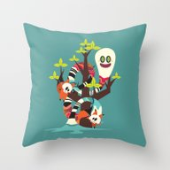 Fox Twins Throw Pillow