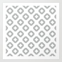 Graphic_Tile Grey Art Print