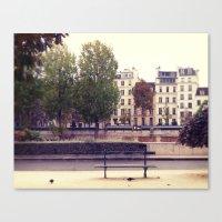 Parisienne Bench Canvas Print