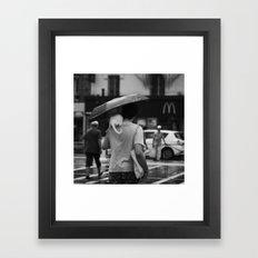 White Tail Framed Art Print
