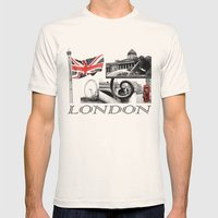 London Reds Mens Fitted Tee Natural SMALL