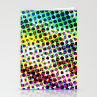 Halftone Color Chart Stationery Cards