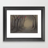 Creepy Christmas Framed Art Print