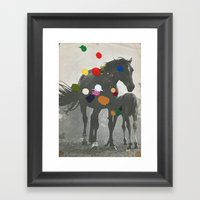 PONY Framed Art Print