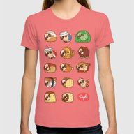 Puglie Food 1 Womens Fitted Tee Pomegranate SMALL