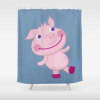 Pigg'o Shower Curtain