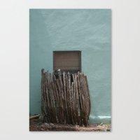 alpine, texas window Canvas Print