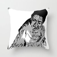 I'm like cat here, a couple of no-name slobs Throw Pillow