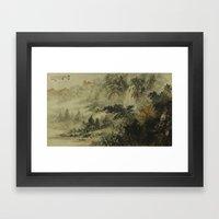 In crossing the river Framed Art Print