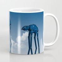 Dali's Mechanical Elephants - Blue Sky Mug