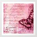 pink postage Art Print