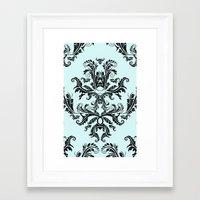 Damask Pattern Framed Art Print