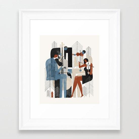 Aspen Music Framed Art Print