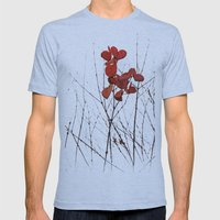 Love Leaves Mens Fitted Tee Athletic Blue SMALL