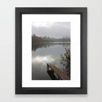 Mist on lake Framed Art Print