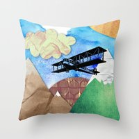 Paper plans Throw Pillow