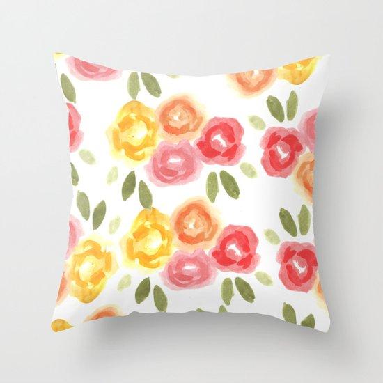 Vintage Florals Throw Pillow