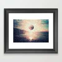 Triangle Sun Framed Art Print