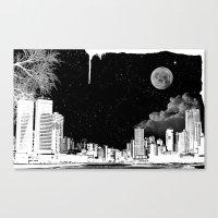 The City At Night.. Canvas Print