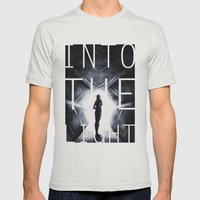 Into The Light  Mens Fitted Tee Silver SMALL