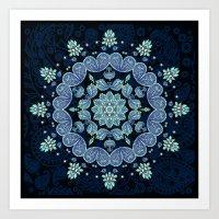 Pastel Paisley Kaleidosc… Art Print